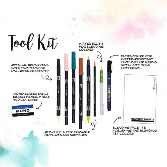 SET CALIGRAFIE SI WATERCOLORING TOMBOW / COZY TIMES SET 9
